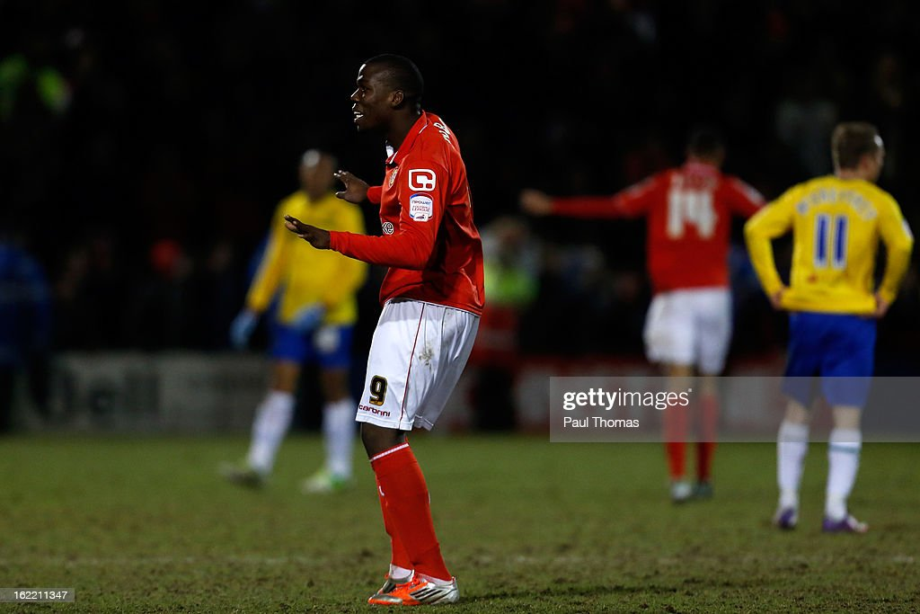 Mathias Pogba of Crewe celebrates at full time of the Johnstone's Paint Trophy Northern Section Final Second Leg match between Crewe Alexandra and Coventry City at the Alexandra Stadium on February 20, 2013 in Crewe, England.