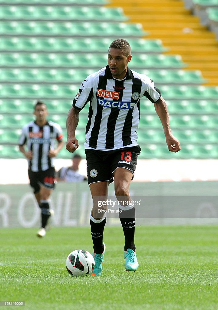 <a gi-track='captionPersonalityLinkClicked' href=/galleries/search?phrase=Mathias+Ranegie&family=editorial&specificpeople=8283787 ng-click='$event.stopPropagation()'>Mathias Ranegie</a> of Udinese runs with the ball during the Serie A match between Udinese Calcio and Genoa CFC at Stadio Friuli on September 30, 2012 in Udine, Italy.