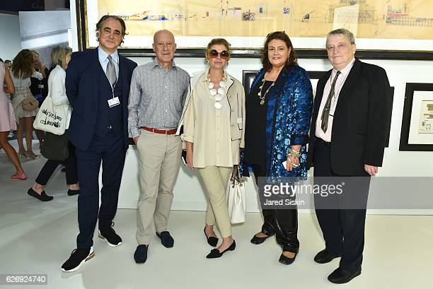 Mathias Rastorfer Norman Foster Elena Foster Christina Gmurzynska and Norman Rosenthal attend Art Basel Miami Beach VIP Preview at Miami Beach...