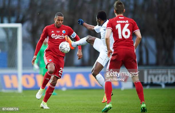Mathias Zanka Jorgensen of FC Copenhagen in action during the Danish cup DBU Pokalen semfinal match between Vendsyssel FF and FC Copenhagen at...