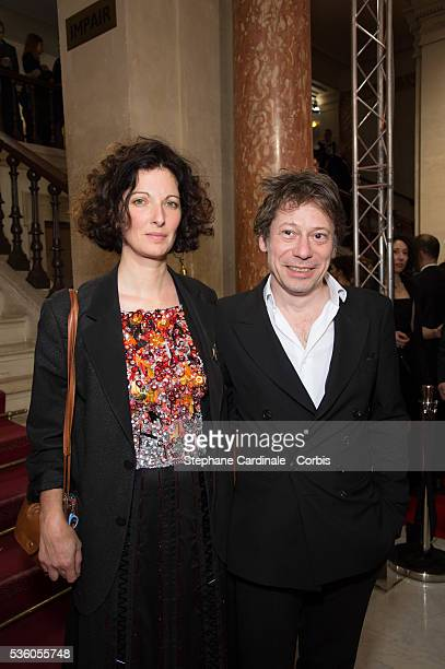 Mathieu Amalric and his wife Stephanie Cleau arrive at the 40th Cesar Film Awards 2015 Cocktail at Theatre du Chatelet on February 20 2015 in Paris...