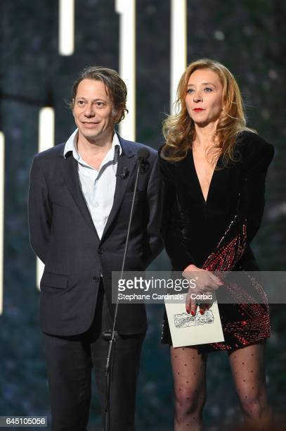Mathieu Amalric and Sylvie Testud during the Cesar Film Awards 2017 ceremony at Salle Pleyel on February 24 2017 in Paris France