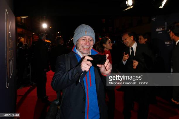 Mathieu Amalric arrives at the Cesar Film Awards 2017 ceremony at Salle Pleyel on February 24 2017 in Paris France