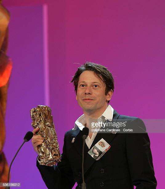 Mathieu Amalric at the 30th Cesar Ceremony held at the Chatelet theater in Paris