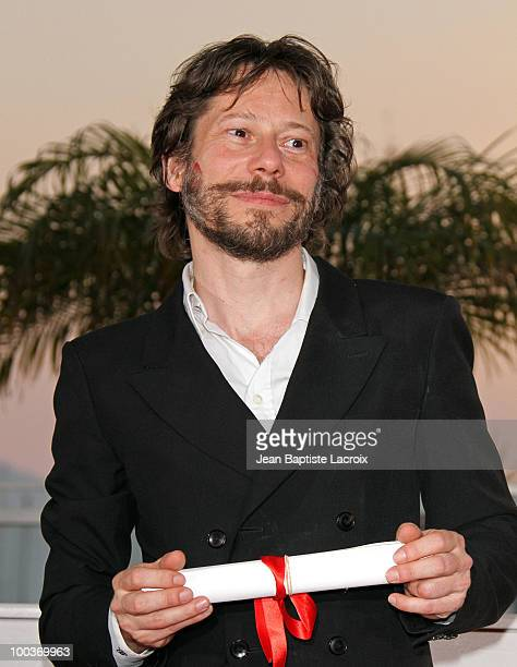 Mathieu Amalric attends the Palme d'Or Award Ceremony Photo Call held at the Palais des Festivals during the 63rd Annual International Cannes Film...