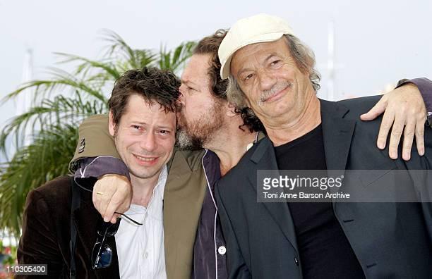 Mathieu Amalric Julian Schnabel and Patrick Chesnais