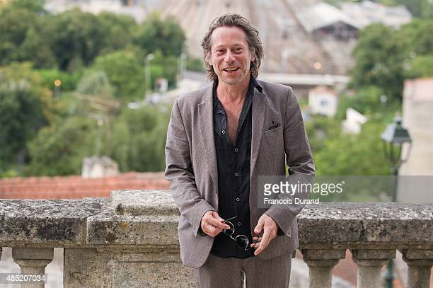 Mathieu Amalric poses during the 'Belles Familles' photocall as part of the 8th Angouleme FrenchSpeaking Film Festival on August 25 2015 in Angouleme...