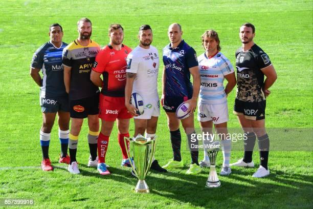Mathieu Babillot of Castres James Eaton of La Rochelle Duane Vermeulen of Toulon Damien Chouly of Clermont Sergio Parisse of Stade Francais Paris...