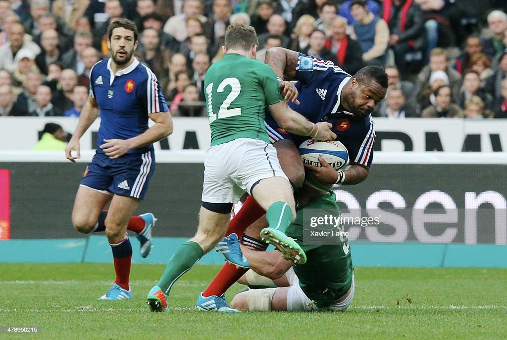 Mathieu Bastareaud of France during the RBS 6 Nations match between France and Ireland at Stade de France on march 15, 2014 in Paris, France.