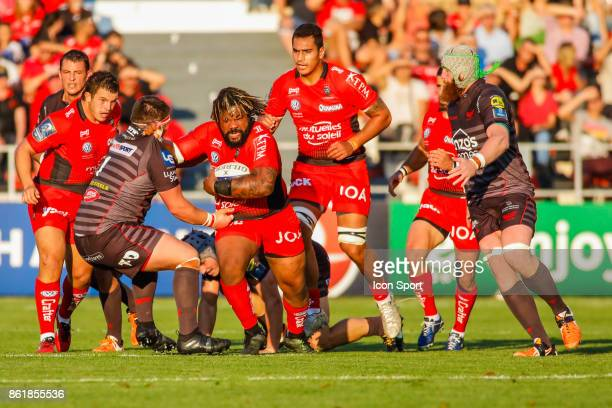 Mathieu Bastareaud of Toulon during the European Champions Cup match between Toulon and Scarlets on October 15 2017 in Toulon France