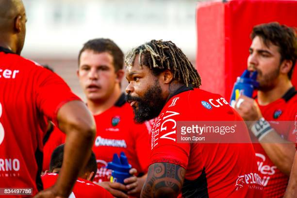 Mathieu Bastareaud of Toulon during the preseason match between Rc Toulon and Lyon OU at Felix Mayol Stadium on August 17 2017 in Toulon France