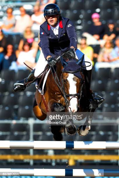 Mathieu Billot riding Shiva d'Amaury during Nations Cup Part 1 of the Equestrian European Championships on August 23 2017 in Gothenburg Sweden
