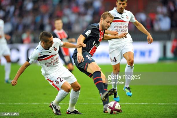 Mathieu BODMER / Anthony MOUNIER PSG / Nice 7e journee de Ligue 1 Photo Dave Winter / Icon Sport