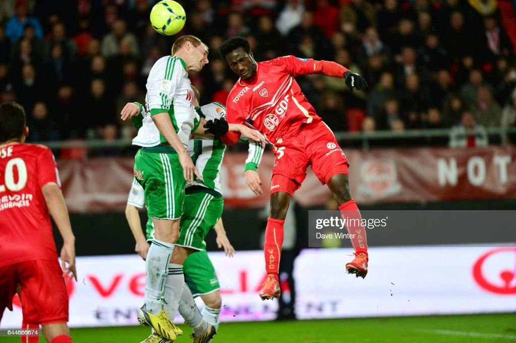 Mathieu BODMER / Benjamin ANGOUA - - Valenciennes / Saint Etienne - 32e journee Ligue 1, Photo : Dave Winter / Icon Sport
