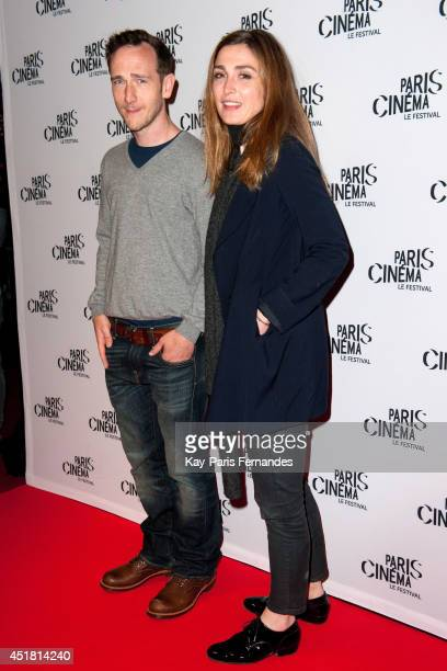 Mathieu Busson and Julie Gayet attend the Paris premiere of 'Cineasts' on day 3 of the Fesitval Paris Cinema on July 7 2014 in Paris France