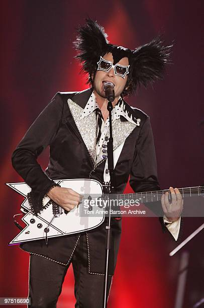 Mathieu Chedid aka 'M' performs during the 25th Victoires de la Musique at Zenith de Paris on March 6 2010 in Paris France
