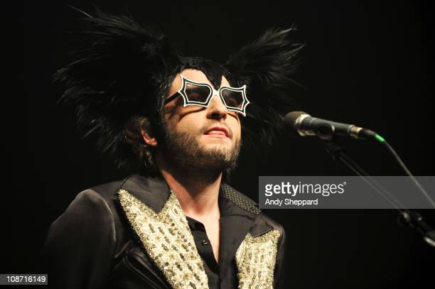 Mathieu Chedid aka M performs on stage at Shepherds Bush Empire on February 1 2011 in London England