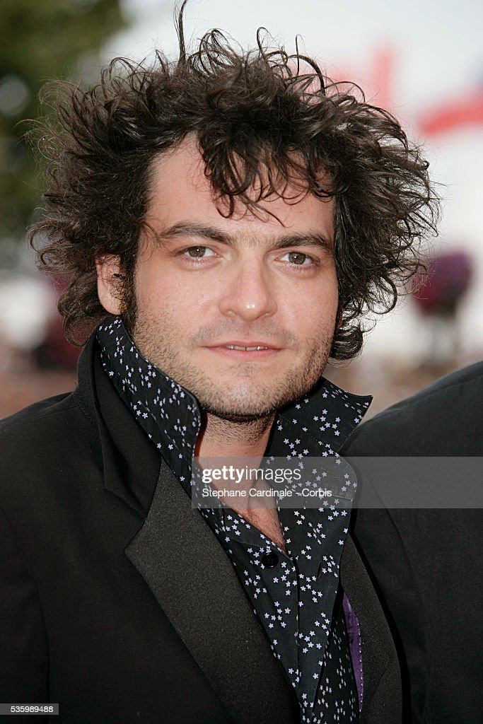 Mathieu Chedid at the premiere of 'Over the Hedge' during the 59th Cannes Film Festival.