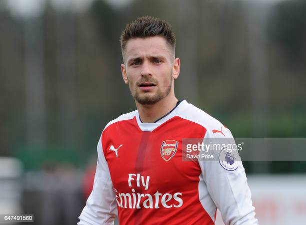 Mathieu Debuchy of Arsenal during the match between Arsenal U23 and Tottenham Hotspur U23 at London Colney on March 3 2017 in St Albans England