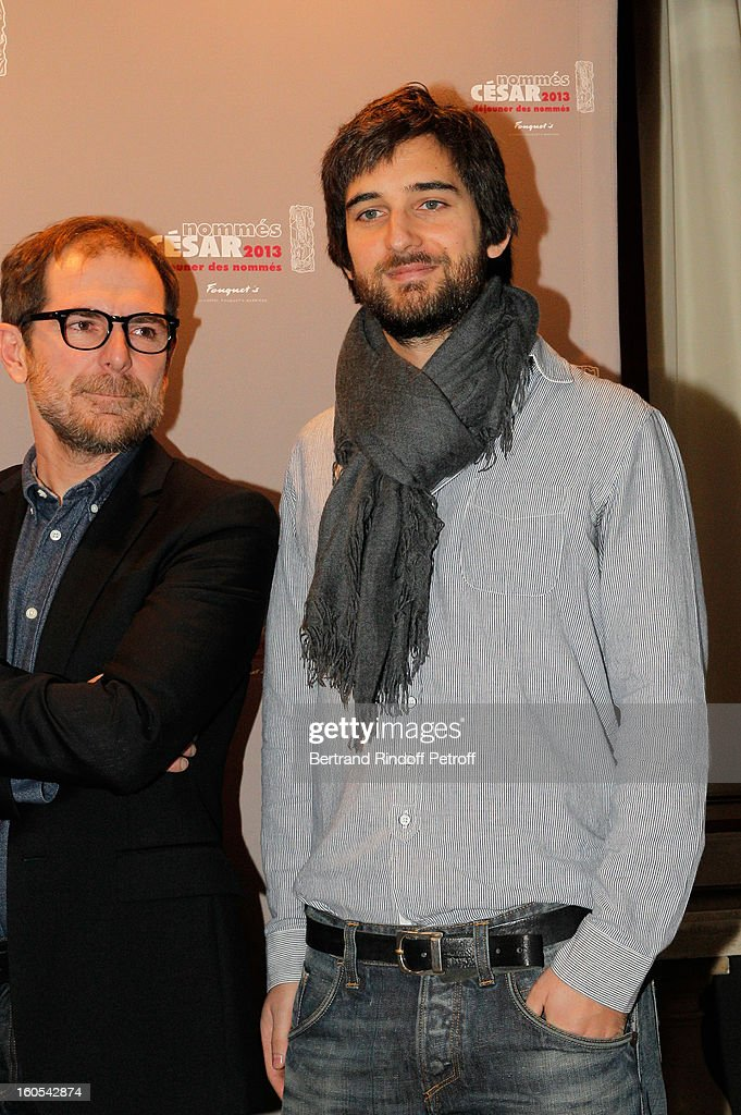 Mathieu Delaporte and Dimitri Rassam attend the Cesar 2013 nominne lunch at Le Fouquet's on February 2, 2013 in Paris, France.
