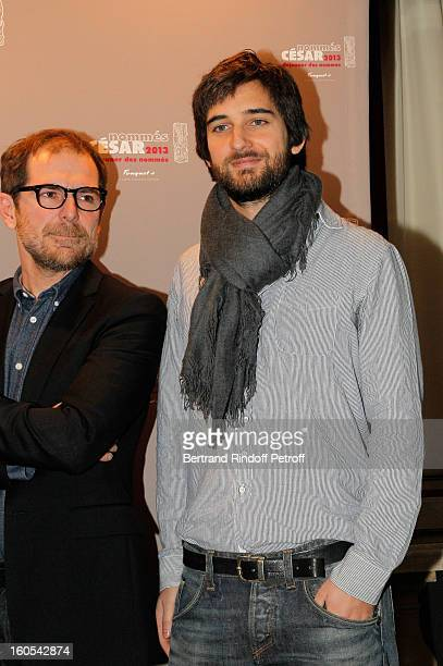 Mathieu Delaporte and Dimitri Rassam attend the Cesar 2013 nominne lunch at Le Fouquet's on February 2 2013 in Paris France