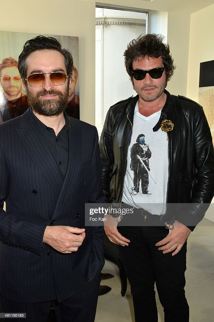 Mathieu Demy and Matthieu Chedid attend the Lisa Roze Photo Exhibition Preview At Smalto Store - The 67th Annual Cannes Film Festival on May 15, 2014 in Cannes, France.