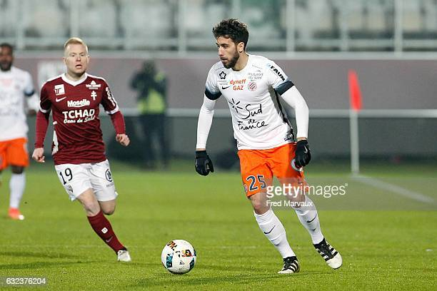 Mathieu Deplagne of Montpellier during the French Ligue 1 match between Metz and Montpellier at Stade SaintSymphorien on January 21 2017 in Metz...