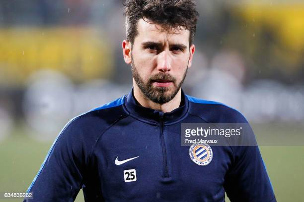 Mathieu Deplagne of Montpellier during the Ligue 1 match between As Nancy Lorraine and Montpellier Herault at Stade Marcel Picot on February 11 2017...