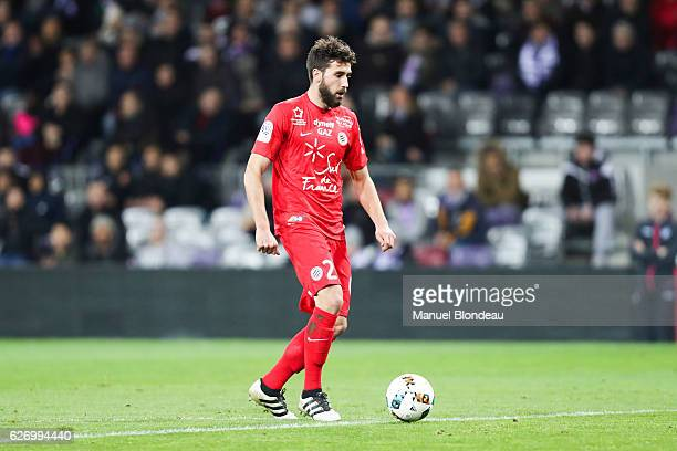 Mathieu Deplagne of Montpellier during the Ligue 1 match between Toulouse FC and Montpellier Herault SC at Stadium Municipal on November 30 2016 in...