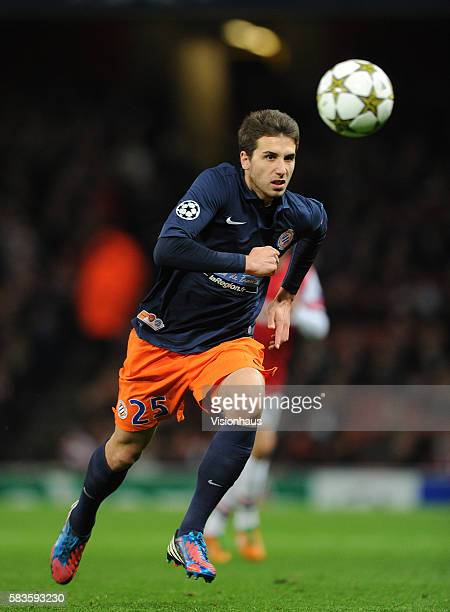 Mathieu Deplagne of Montpellier Herault SC during the UEFA Champions League Group B match between Arsenal and Montpellier Herault SC at the Emirates...