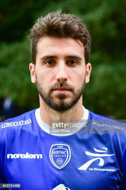 Mathieu Deplagne of Troyes during photocall of ESTAC Troyes for new season 2017/2018 on September 6 2017 in Troyes France