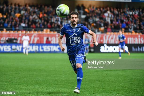Mathieu Deplagne of Troyes during the Ligue 1 match between ESTAC Troyes and FC Toulouse at Stade de l'Aube on September 9 2017 in Troyes
