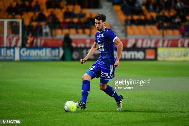 Mathieu Deplagne of Troyes during the Ligue 1 match between ESTAC Troyes and Montpellier Herault SC at Stade de l'Aube on September 16 2017 in Troyes...
