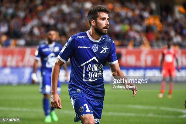 Mathieu Deplagne of Troyes during the Ligue 1 match between Troyes AC and Stade Rennais at Stade de l'Aube on August 5 2017 in Troyes