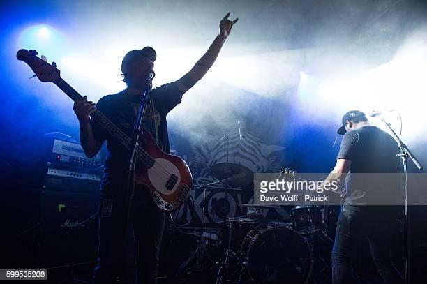 Mathieu Dottel and Julien Dottel from Bukowski open for Mondo Generator at La Maroquinerie on September 5 2016 in Paris France