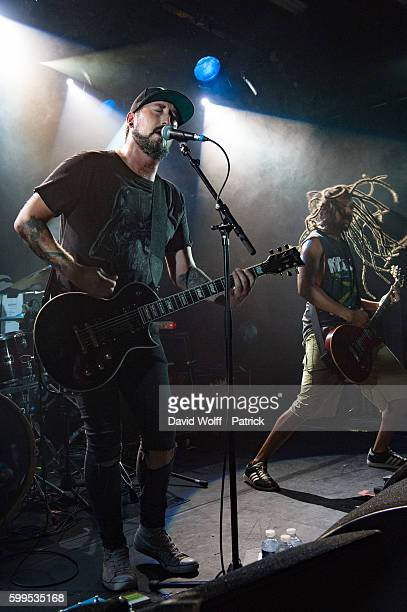 Mathieu Dottel from Bukowski opens for Mondo Generator at La Maroquinerie on September 5 2016 in Paris France