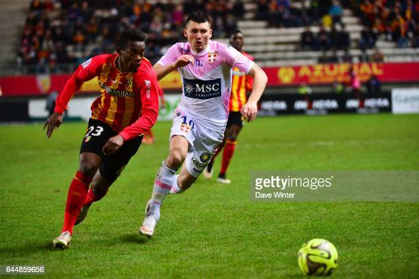Mathieu DUHAMEL / Wylan CYPRIEN Lens / Evian Thonon 25eme journee de Ligue 1 Photo Dave Winter / Icon Sport
