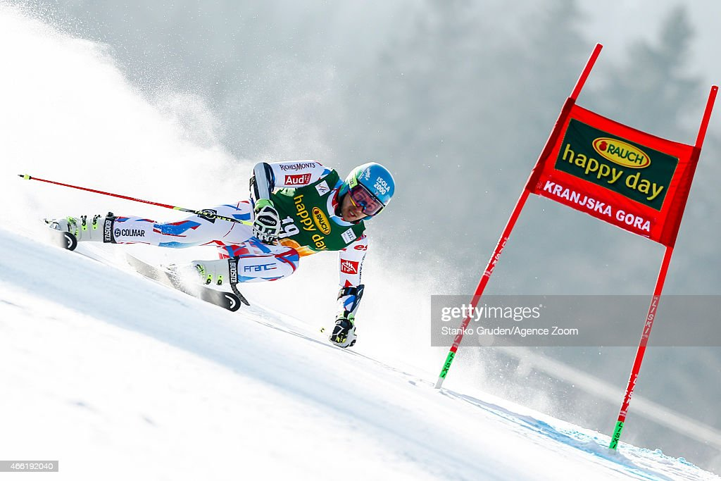 <a gi-track='captionPersonalityLinkClicked' href=/galleries/search?phrase=Mathieu+Faivre&family=editorial&specificpeople=7462236 ng-click='$event.stopPropagation()'>Mathieu Faivre</a> of France competes during the Audi FIS Alpine Ski World Cup Men's Giant Slalom on March 14, 2015 in Kranjska Gora, Slovenia.