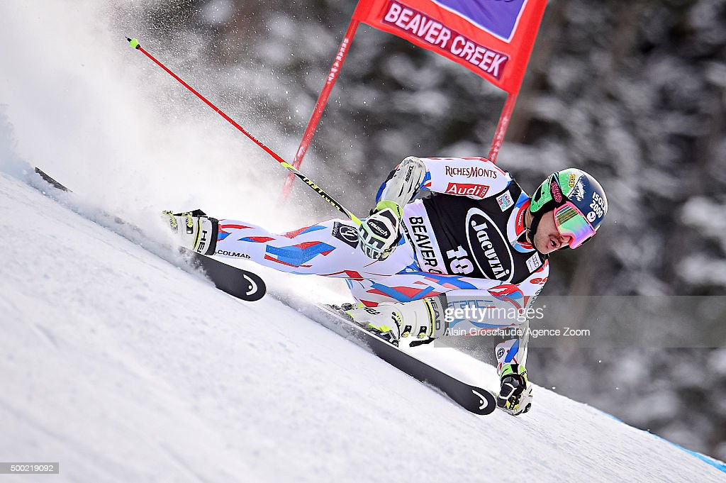 <a gi-track='captionPersonalityLinkClicked' href=/galleries/search?phrase=Mathieu+Faivre&family=editorial&specificpeople=7462236 ng-click='$event.stopPropagation()'>Mathieu Faivre</a> of France competes during the Audi FIS Alpine Ski World Cup Men's Giant Slalom on December 06, 2015 in Beaver Creek, Colorado.