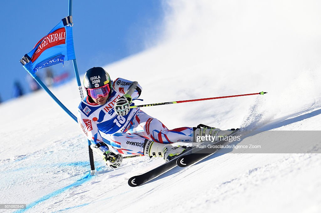 <a gi-track='captionPersonalityLinkClicked' href=/galleries/search?phrase=Mathieu+Faivre&family=editorial&specificpeople=7462236 ng-click='$event.stopPropagation()'>Mathieu Faivre</a> of France competes during the Audi FIS Alpine Ski World Cup Men's Giant Slalom on December 12, 2015in Val D'isere, France.