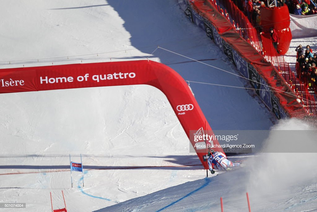 <a gi-track='captionPersonalityLinkClicked' href=/galleries/search?phrase=Mathieu+Faivre&family=editorial&specificpeople=7462236 ng-click='$event.stopPropagation()'>Mathieu Faivre</a> of France competes during the Audi FIS Alpine Ski World Cup Men's Giant Slalom on December 12, 2015 in Val d'Isere, France.