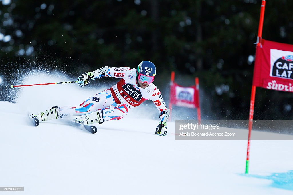 <a gi-track='captionPersonalityLinkClicked' href=/galleries/search?phrase=Mathieu+Faivre&family=editorial&specificpeople=7462236 ng-click='$event.stopPropagation()'>Mathieu Faivre</a> of France competes during the Audi FIS Alpine Ski World Cup Men's Giant Slalom on December 20, 2015 in Alta Badia, Italy.