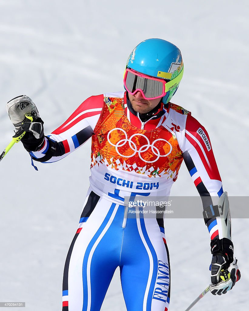 <a gi-track='captionPersonalityLinkClicked' href=/galleries/search?phrase=Mathieu+Faivre&family=editorial&specificpeople=7462236 ng-click='$event.stopPropagation()'>Mathieu Faivre</a> of France reacts during the Alpine Skiing Men's Giant Slalom on day 12 of the Sochi 2014 Winter Olympics at Rosa Khutor Alpine Center on February 19, 2014 in Sochi, Russia.