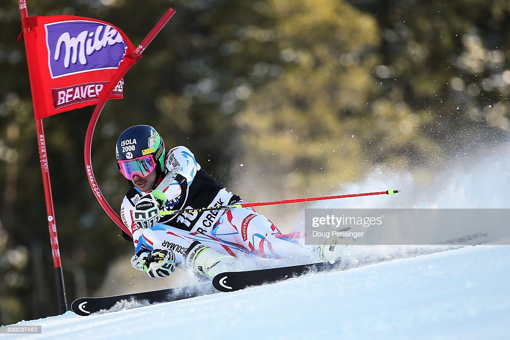 <a gi-track='captionPersonalityLinkClicked' href=/galleries/search?phrase=Mathieu+Faivre&family=editorial&specificpeople=7462236 ng-click='$event.stopPropagation()'>Mathieu Faivre</a> of France skis to seventh place in the giant slalom at the 2015 Audi FIS Ski World Cup on December 6, 2015 in Beaver Creek, Colorado.