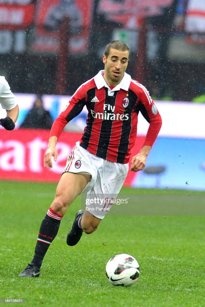 Mathieu Flamini of AC Milan in action during the Serie A match between AC Milan and US Citta di Palermo at San Siro Stadium on March 17, 2013 in Milan, Italy.