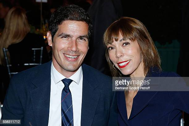 Mathieu Gallet and Mathilde Favier attend the inauguration of Olafur Eliasson Exhibition at Chateau de Versailles on June 5 2016 in Versailles France