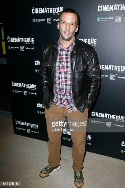 Mathieu Kassovitz attends 'Happy End' Paris Premiere at la cinematheque on September 18 2017 in Paris France