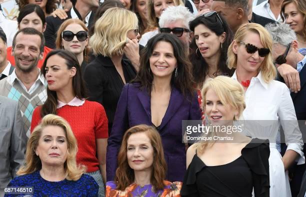 Mathieu Kassovitz Berenice Bejo Juliette Binoche Isabelle Huppert Nicole Kidman Maiwen Uma Thurman Charlize Theron Catherine Deneuve and Jessica...