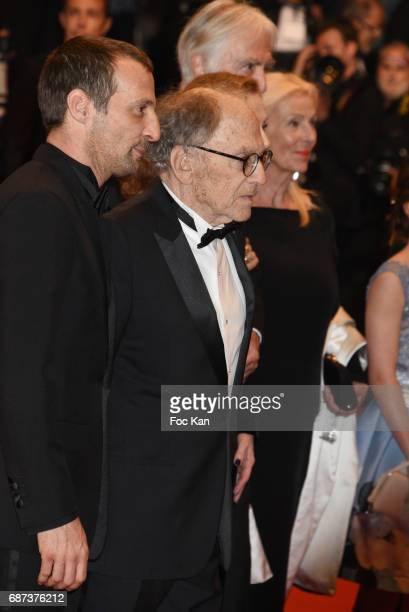 Mathieu Kassovitz JeanLouis Trintignant sabelle Huppert and Michael Haneke attend the'Happy End' screening during the 70th annual Cannes Film...