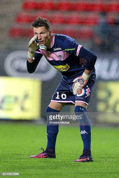 Mathieu Michel of Angers during the Ligue 1 match between Stade Rennais and Sco Angers at Stade de la Route de Lorient on November 19 2016 in Rennes...